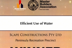 2011 MBA Award - Peninsula - Efficient Use of Water