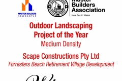 2015 MBA Award - Forresters - Outdoor Landscaping